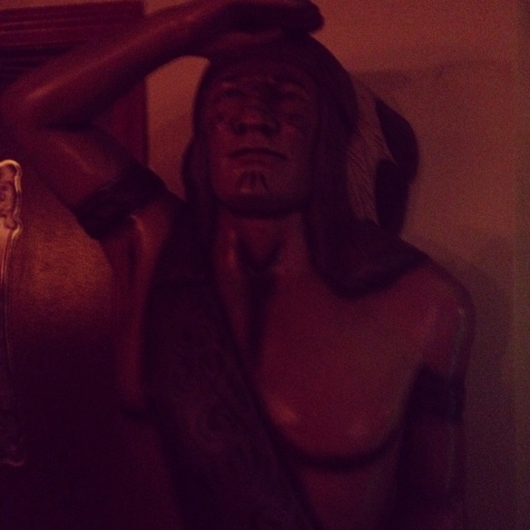 Cigar store indian at The Tavern At The End Of The World - Charlestown, MA